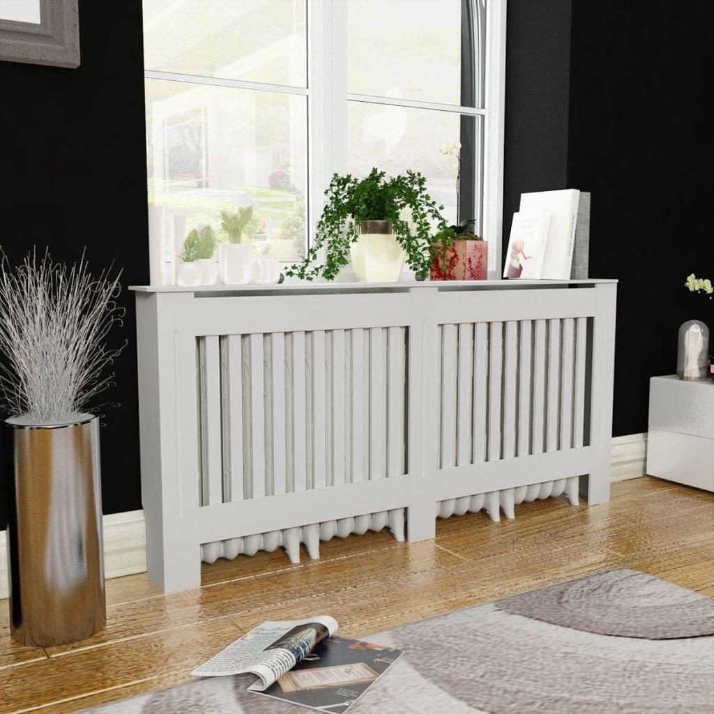 Inredning elementskydd : vidaXL Elementskydd i MDF 172 cm vit på Tradera.com - Element ...