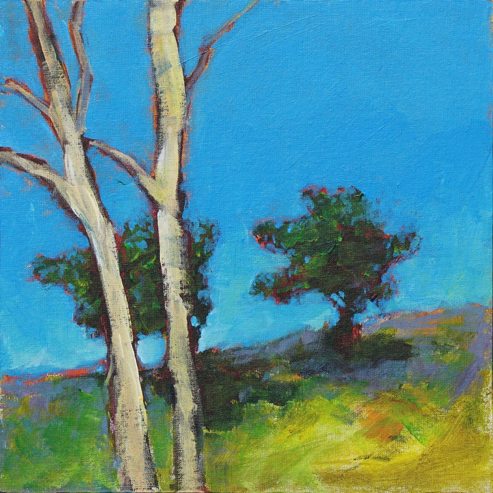 Akryltavla Två träd (315672091) u1408 Köp på Tradera com