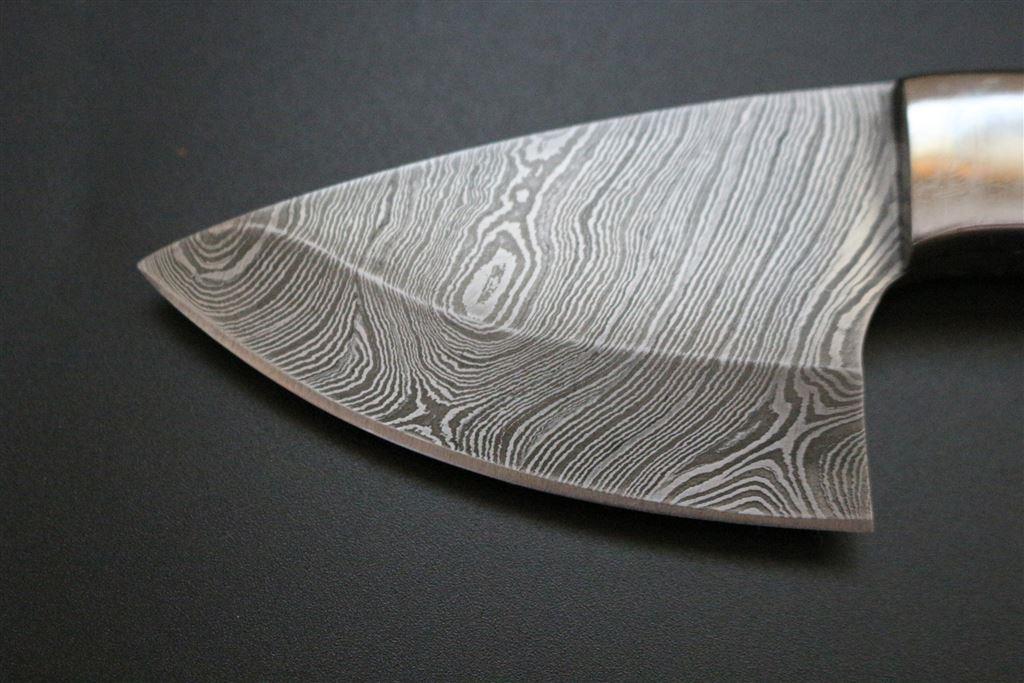 Mini Skinner Kniv Jakt kniv Samlarobjekt Skinner i Damaskus stål Fiske