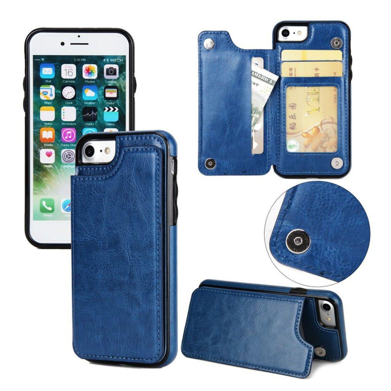 iPhone 7   8 Läder fodral med plånbok - Blå (299585247) ᐈ WePack på ... 19aadffc06939
