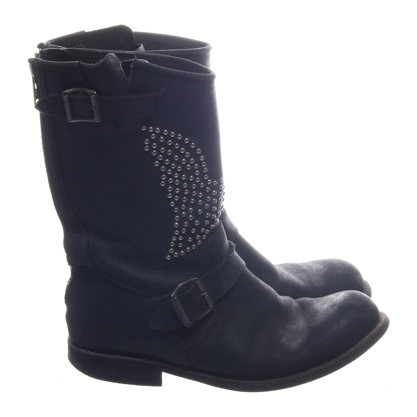 Primeboots, Boots, Svart, Skinn