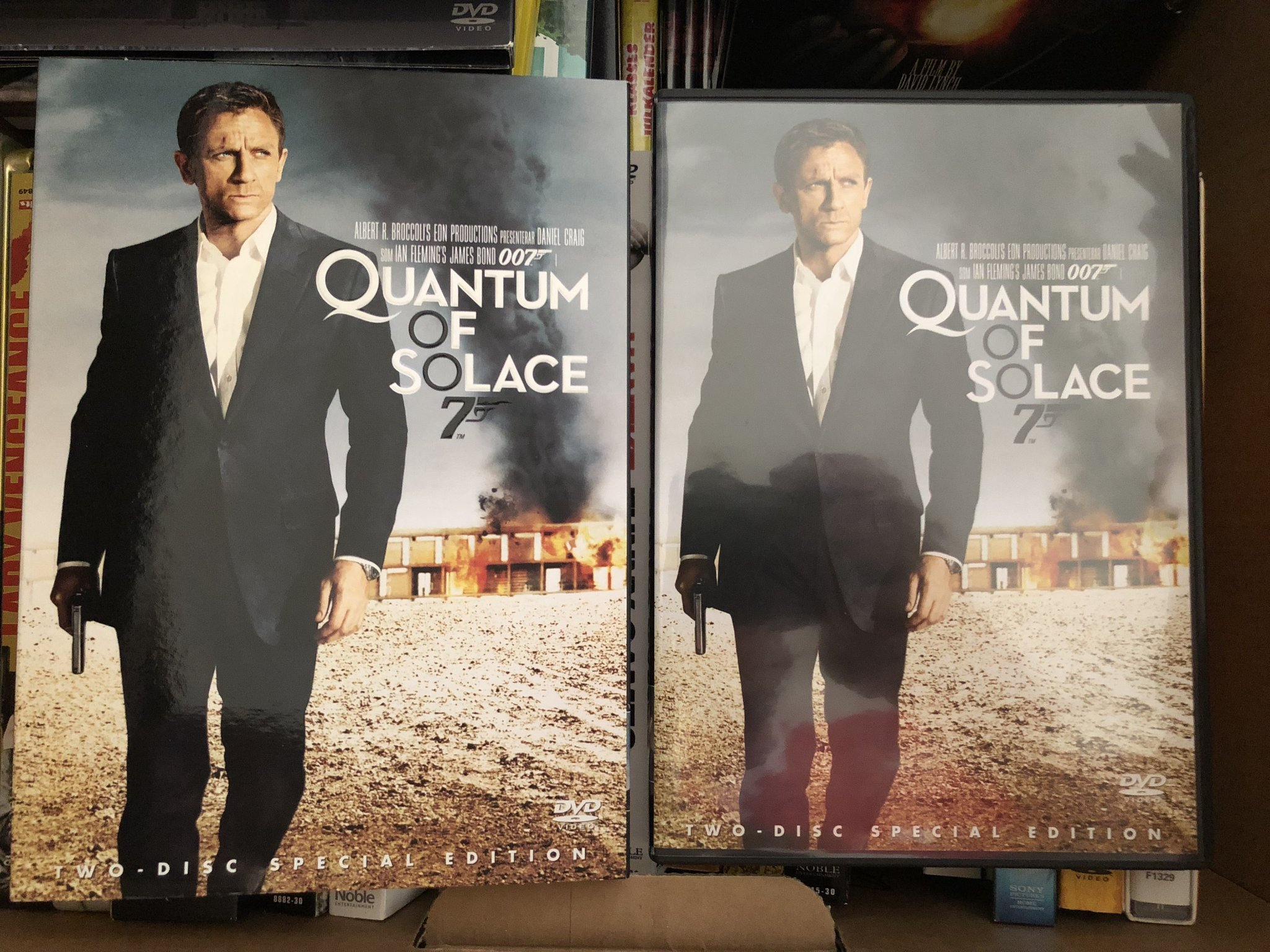 Quantum of Solace 2-disc Special Edition, James Bond (DVD) med papphölje, UTGÅTT