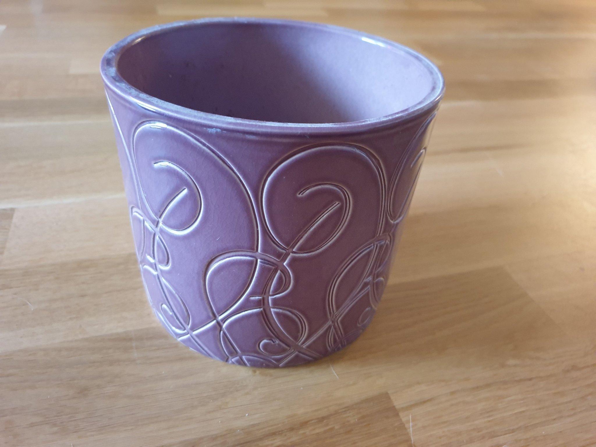 Stor Lila Kruka Ytterkruka I Keramik 421704374 ᐈ Kop Pa Tradera