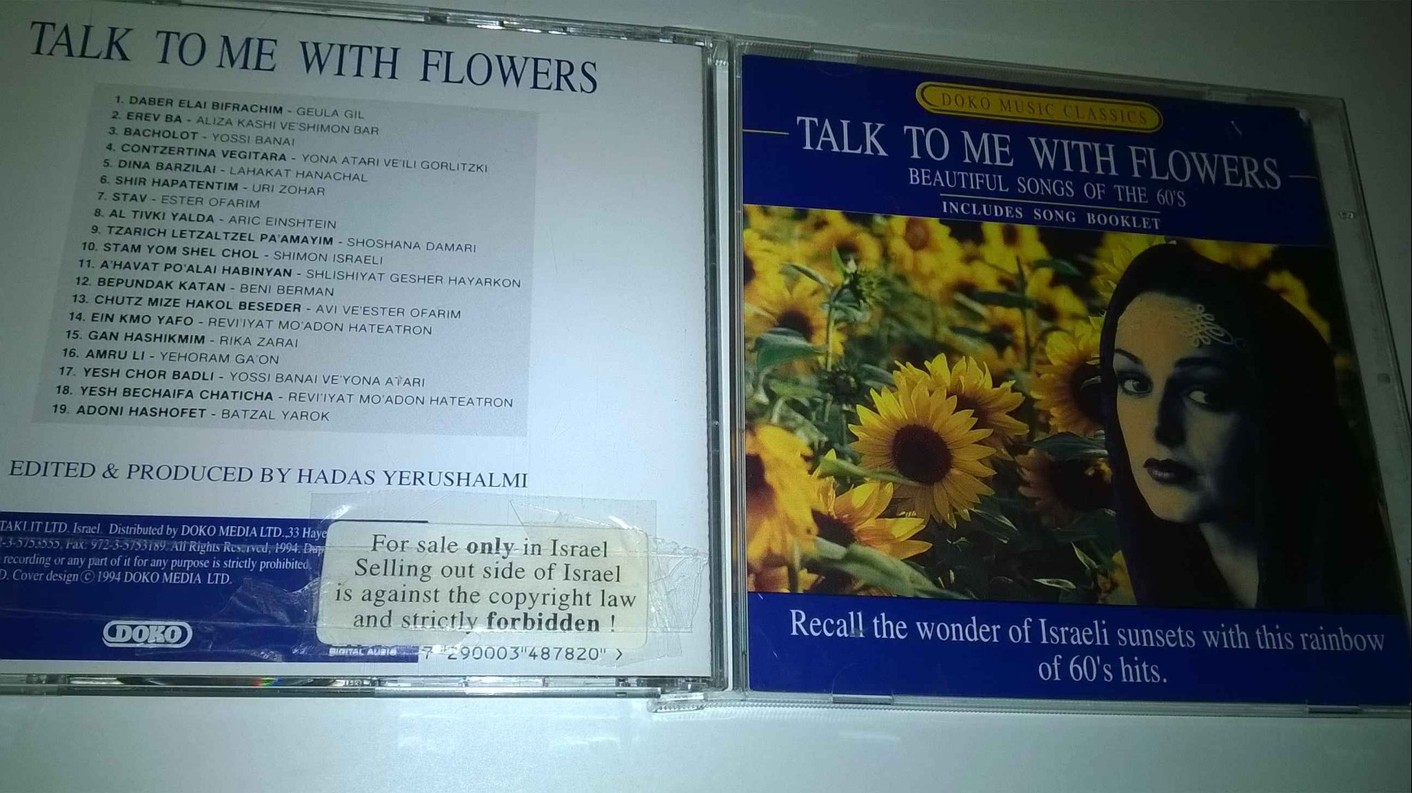 Talk to Me with Flowers Beautiful Israeli songs of the 60`s