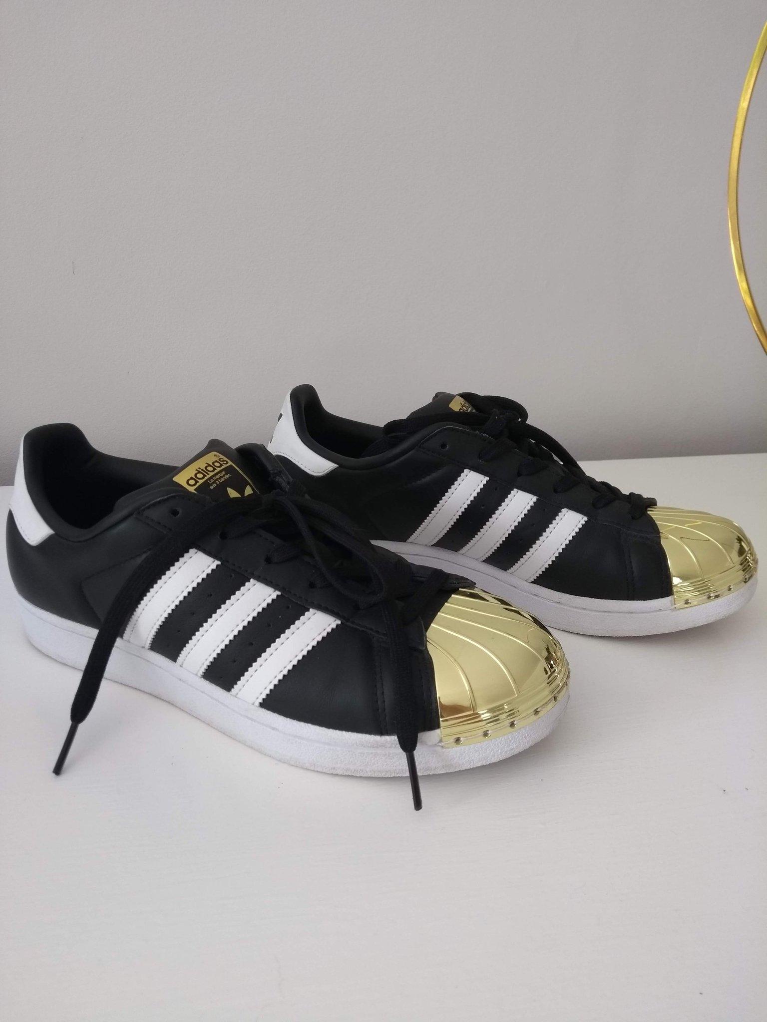 6d81323da34 Adidas Superstar Metal Toe Gold /svarta med gul.. (354170598) ᐈ Köp ...