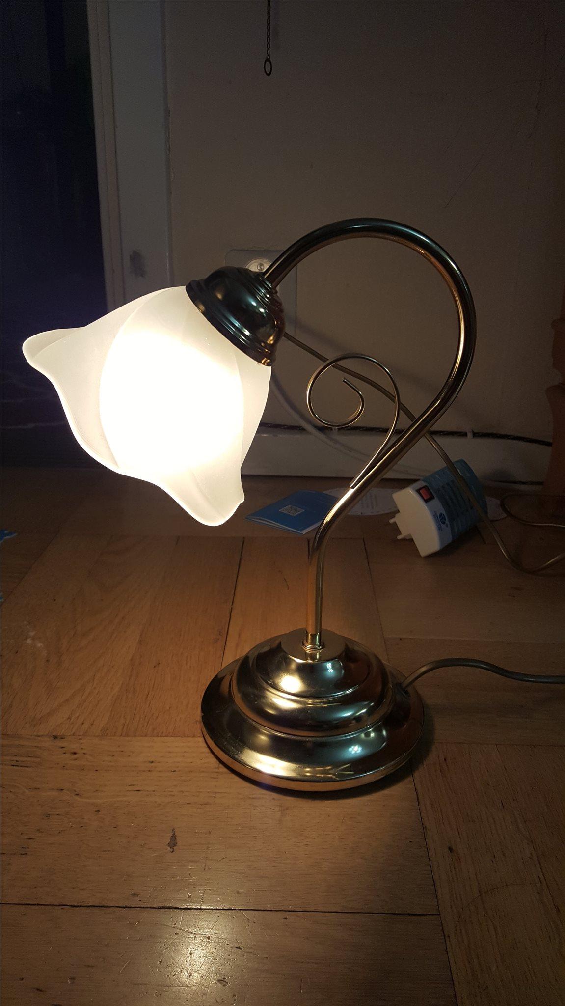 Vintage mässing Bordslampa av MS Belysning Belysning Belysning 26703a