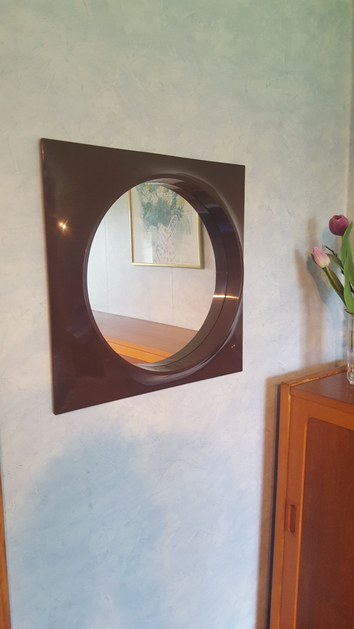 Nykomna 70 tal retro spegel Plast (359562841) ᐈ Köp på Tradera JF-26