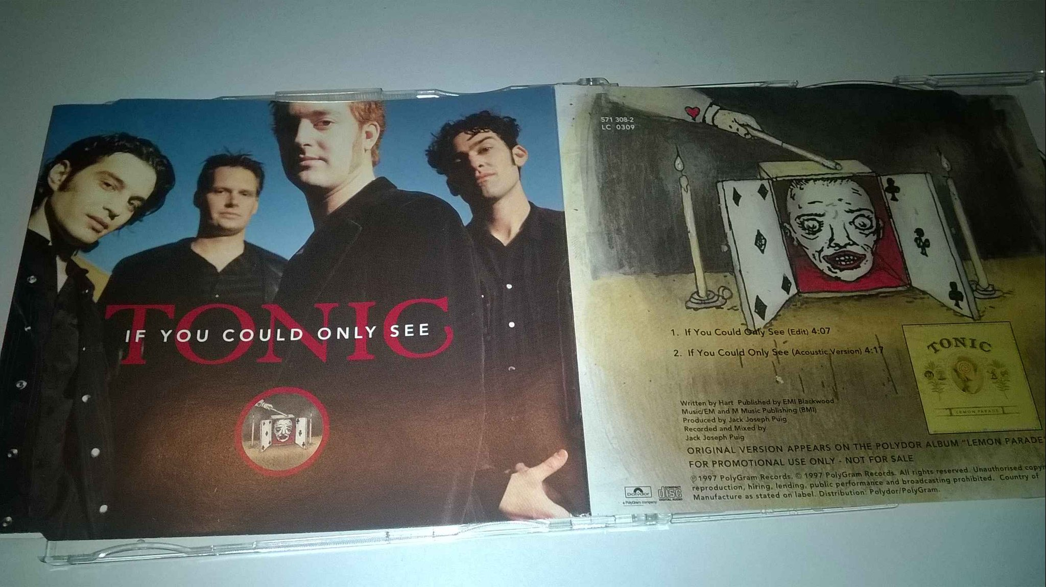Tonic - If You Could Only See, CD, Single, Promo