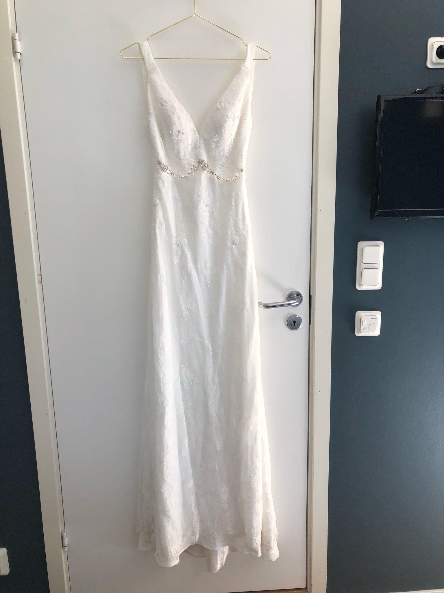6d82ef13682a Brudklänning stl S (347438042) ᐈ Köp på Tradera