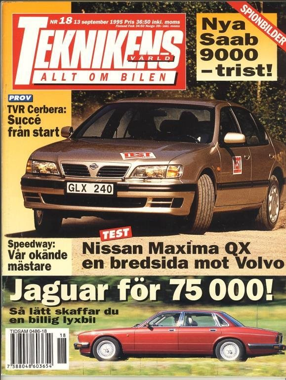 Teknikens Värld 1995/18 - Test: Nissan Maxima.
