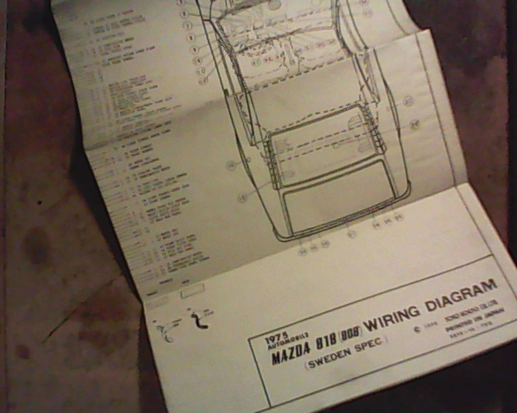 Mazda 818 1975 Verkstadshandbok Elsch 270887842 Ljusdals P Wiring Diagram Elschema 808