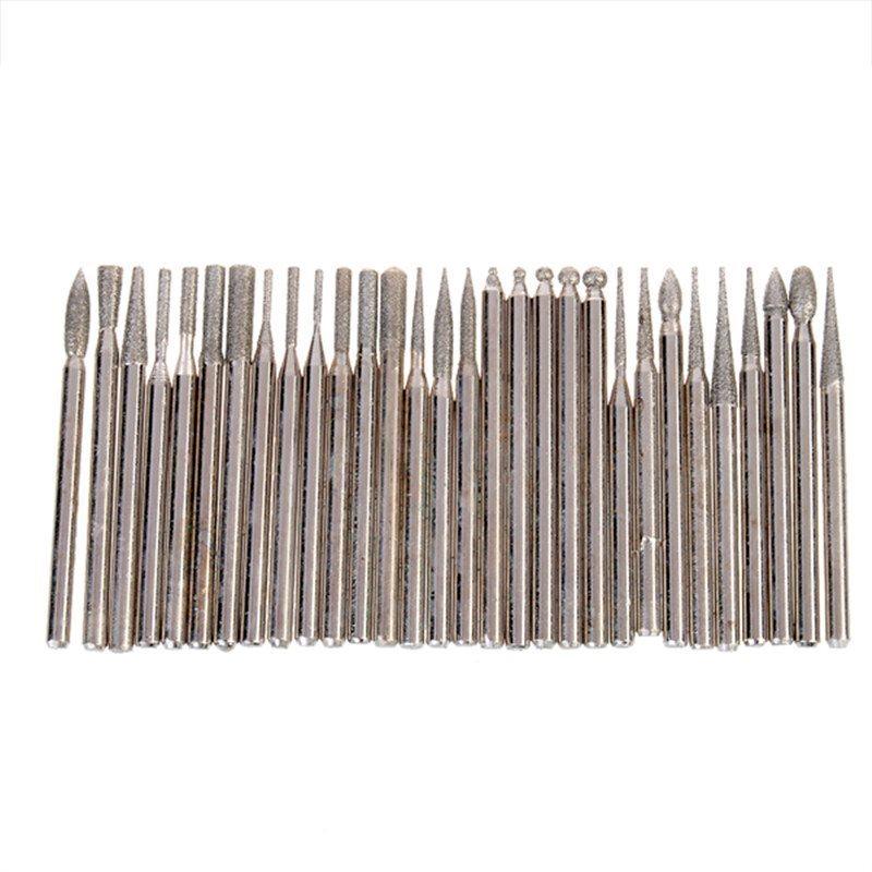 30 st diamantbelagda verktyg för Dremel