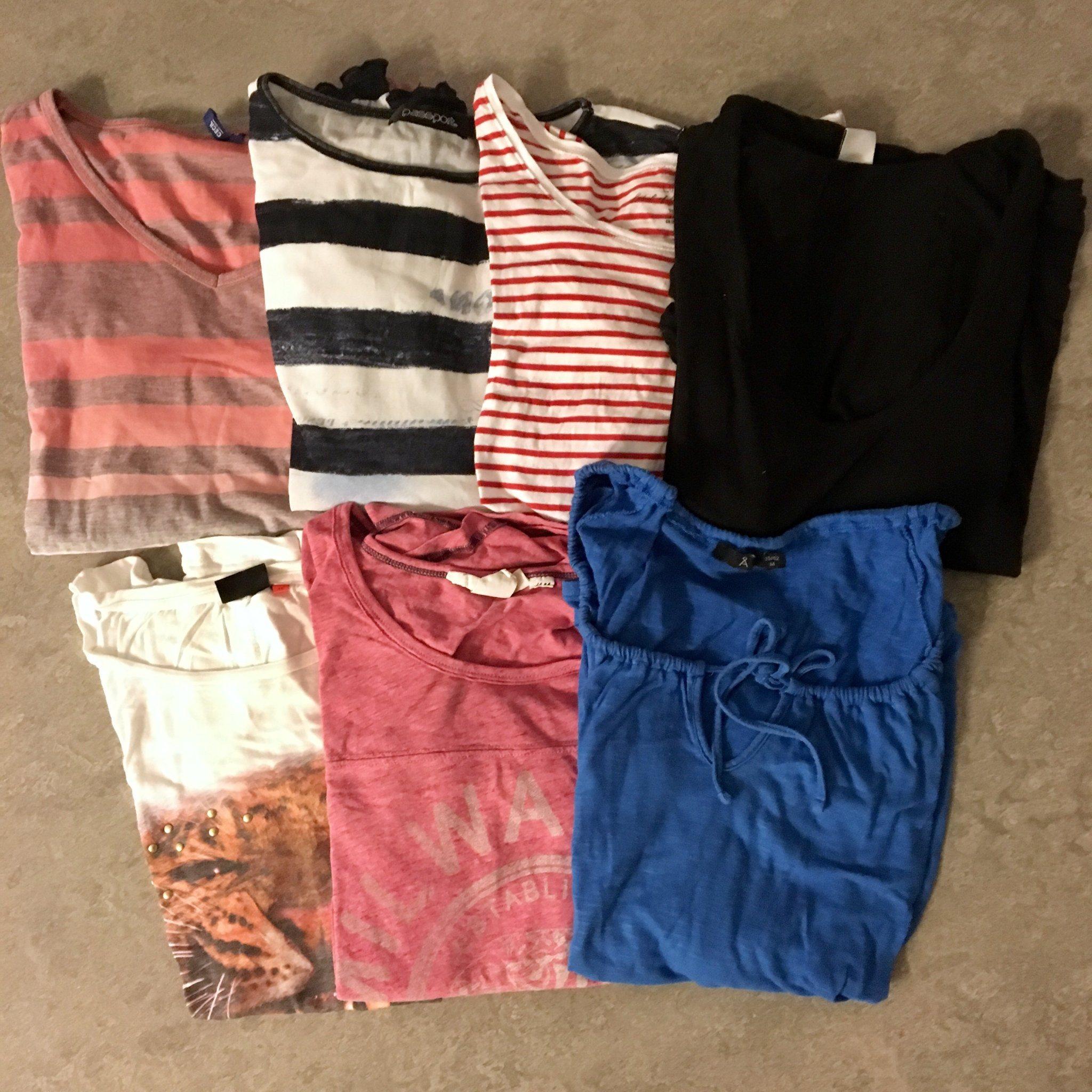 7ab22f536f71 KLÄDPAKET basic vardags toppar/t-shirts st M, H.. (342418407) ᐈ Köp ...
