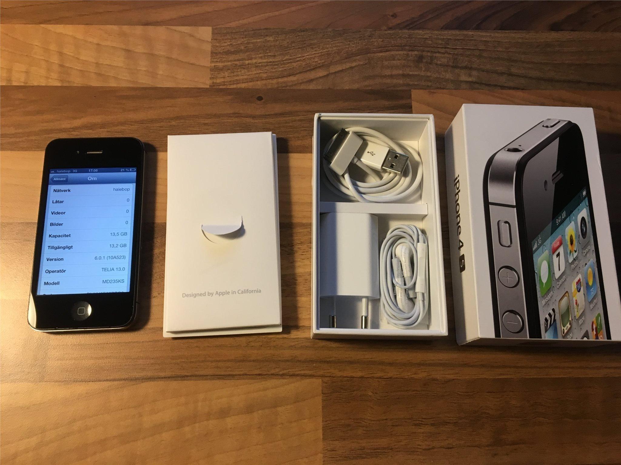 iPHONE 4S 16GB MED IOS 6 (350147632) ᐈ Köp på Tradera