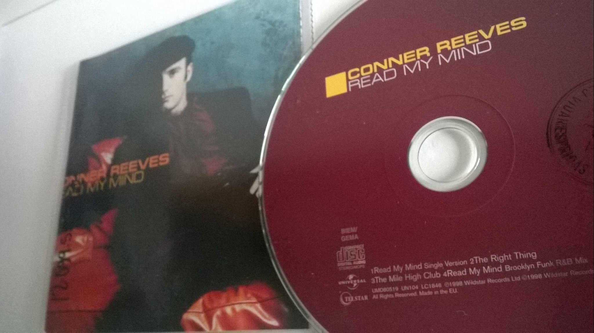 Conner Reeves - Read my mind, single CD