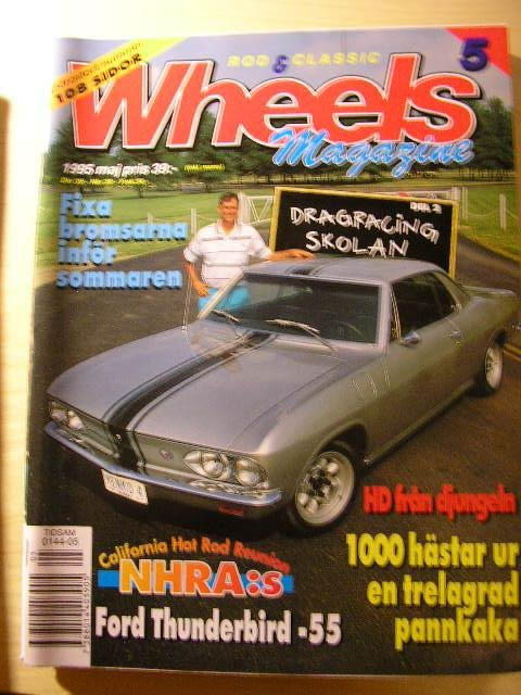 WHEELS NR 5 1995    CHEVA PICKUP -55 , T-BIRD CAB -55