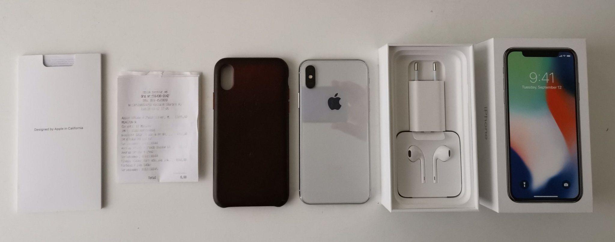 Apple IPhone X 256 GB VIT SILVER KVITTO OLÅST N.. (338110810) ᐈ Köp ... 87088c21f0e23