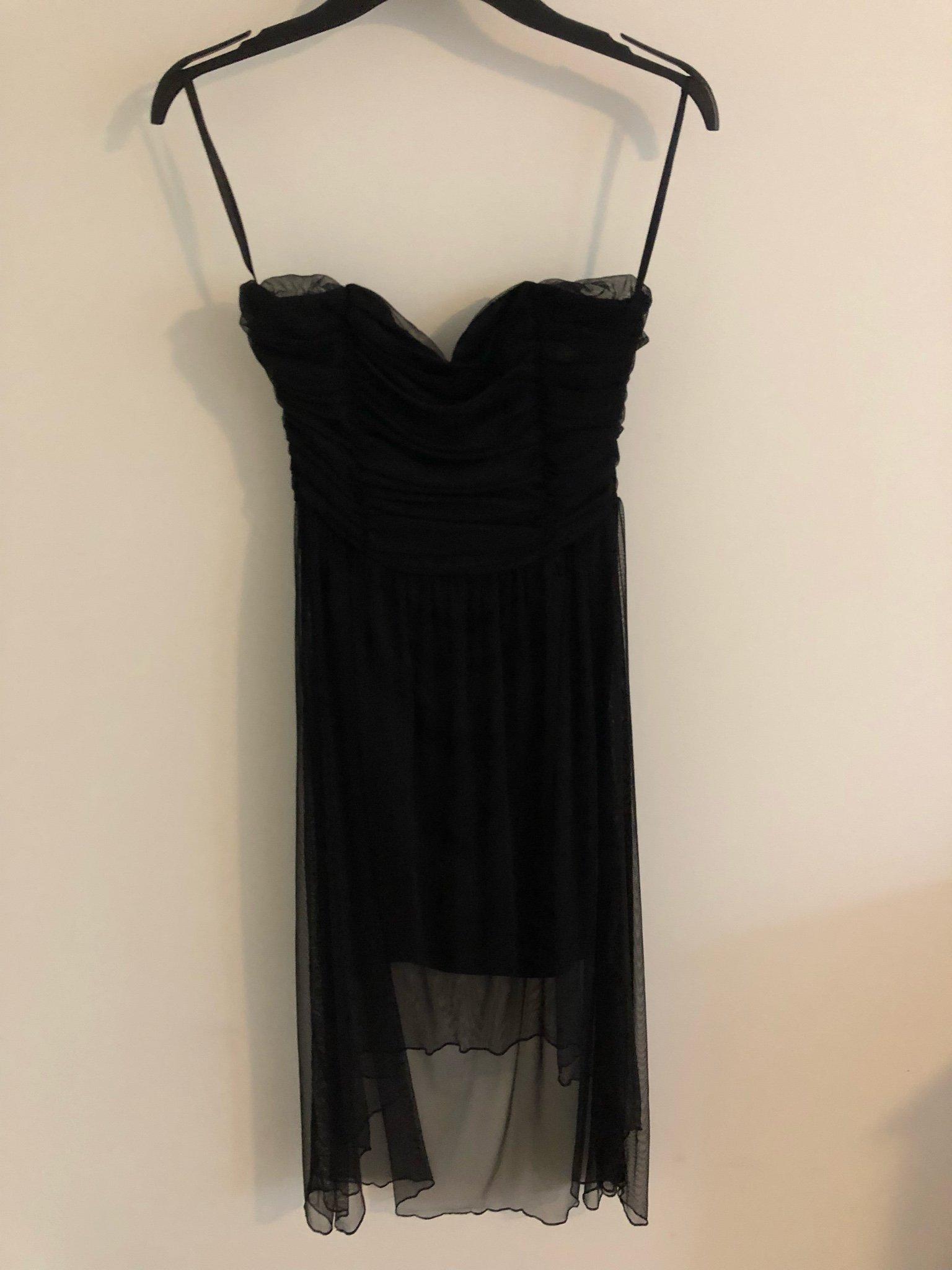 aa9560478751 Svart klänning med släp ny med lapp (344190617) ᐈ Köp på Tradera