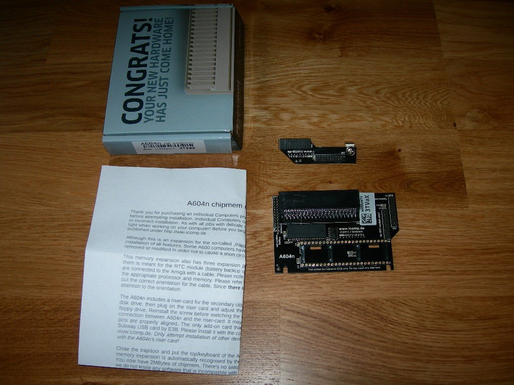 Amiga 600 iComp A604a Chipramexpansion