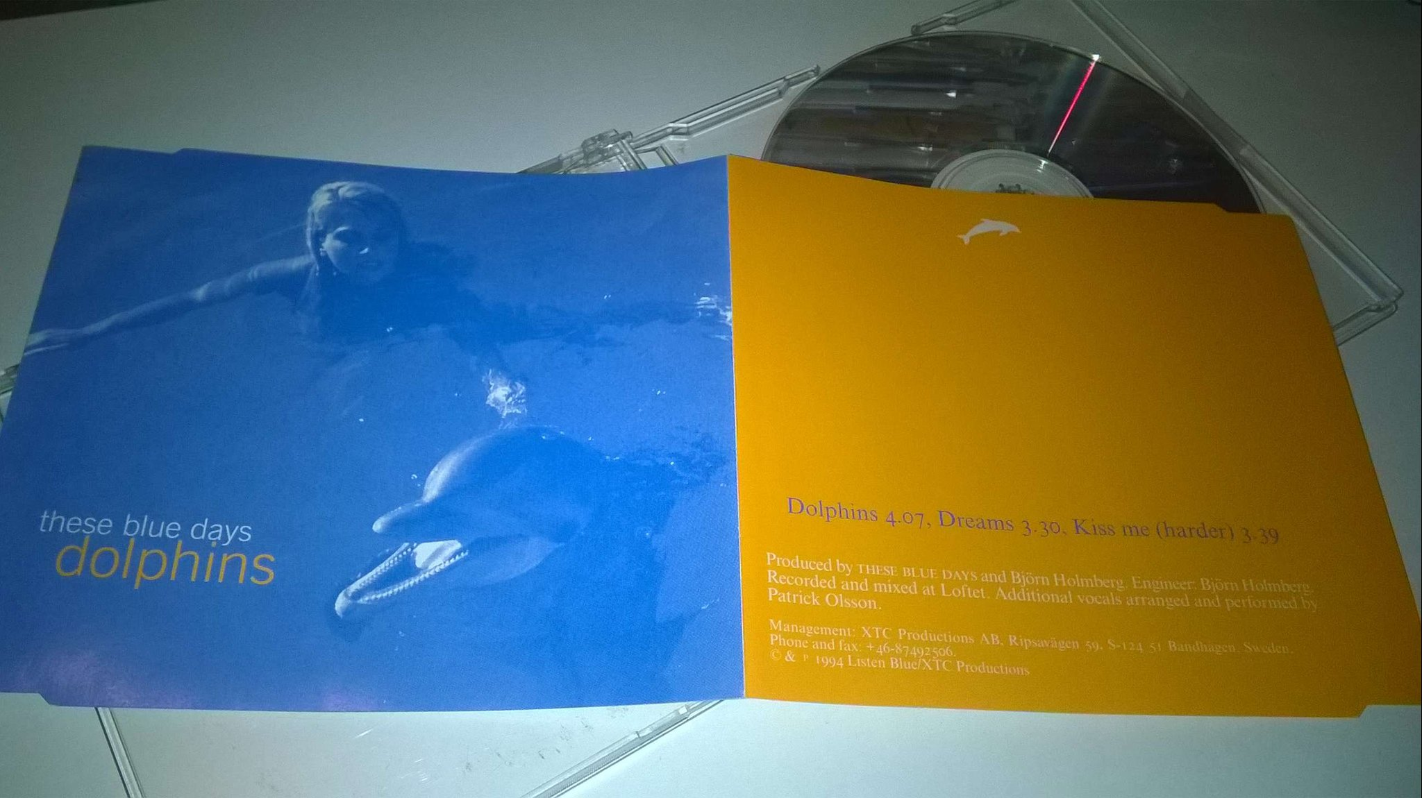 These Blue Days & Björn Holmberg - Dolphins, CD, very rare!