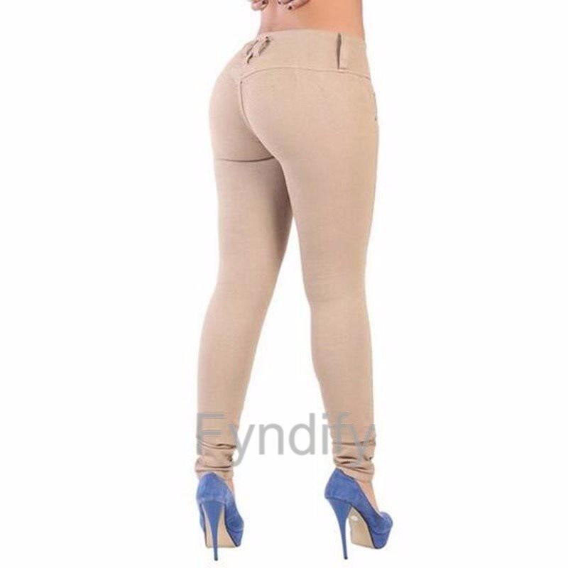 Stretch Skinny Leg Leg Leg Pants Kaki XXL (size 11) 35b436
