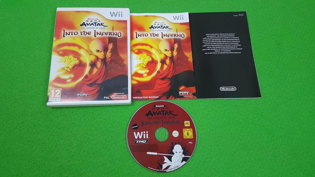 Avatar The Legend of Aang Into the Inferno KOMPLETT Nintendo Wii