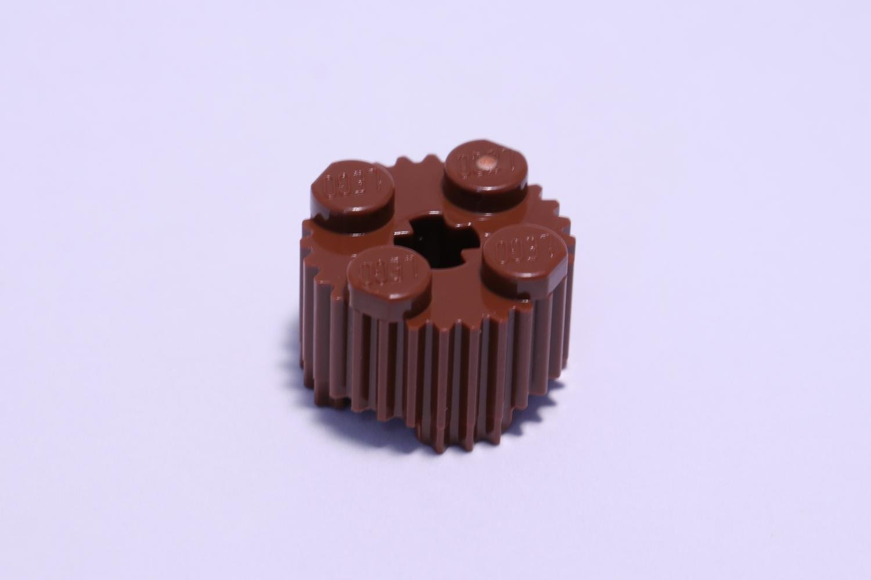 25 NEW LEGO Brick Round 2 x 2 Axle Hole BRICKS Reddish Brown