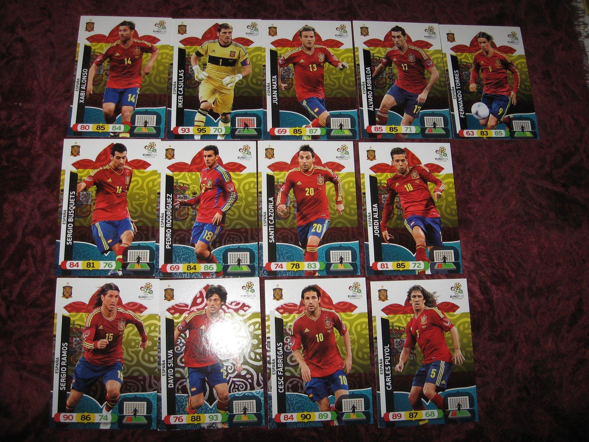 13 St Spanien Fotbolls Kort Euro 2012 377077230 ᐈ Kop Pa Tradera