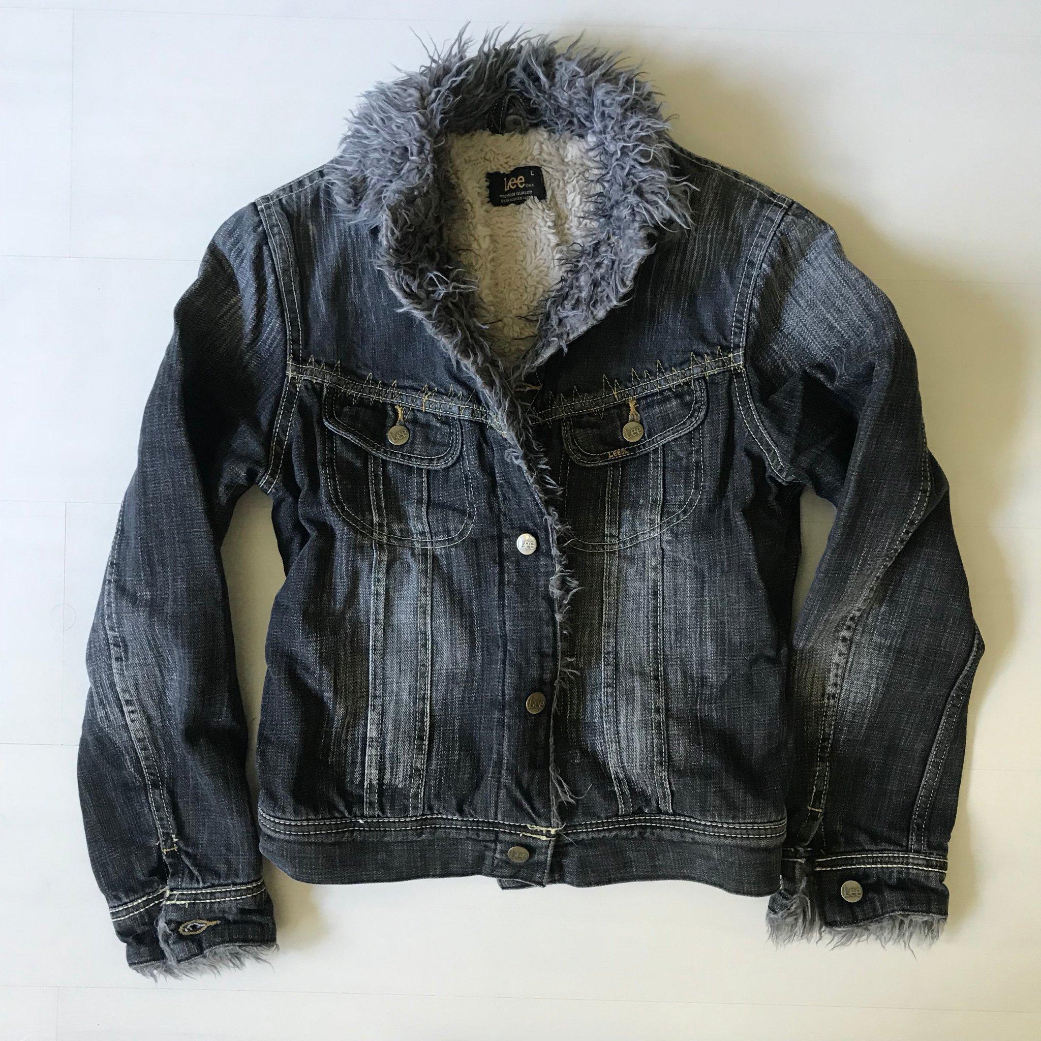 Lee jeansjacka L, varm fodrad svartgrå (376813295) ᐈ Köp