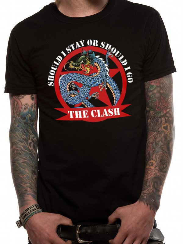 THE CLASH - SHOULD I STAY DRAGON (UNISEX) T-Shirt - Medium
