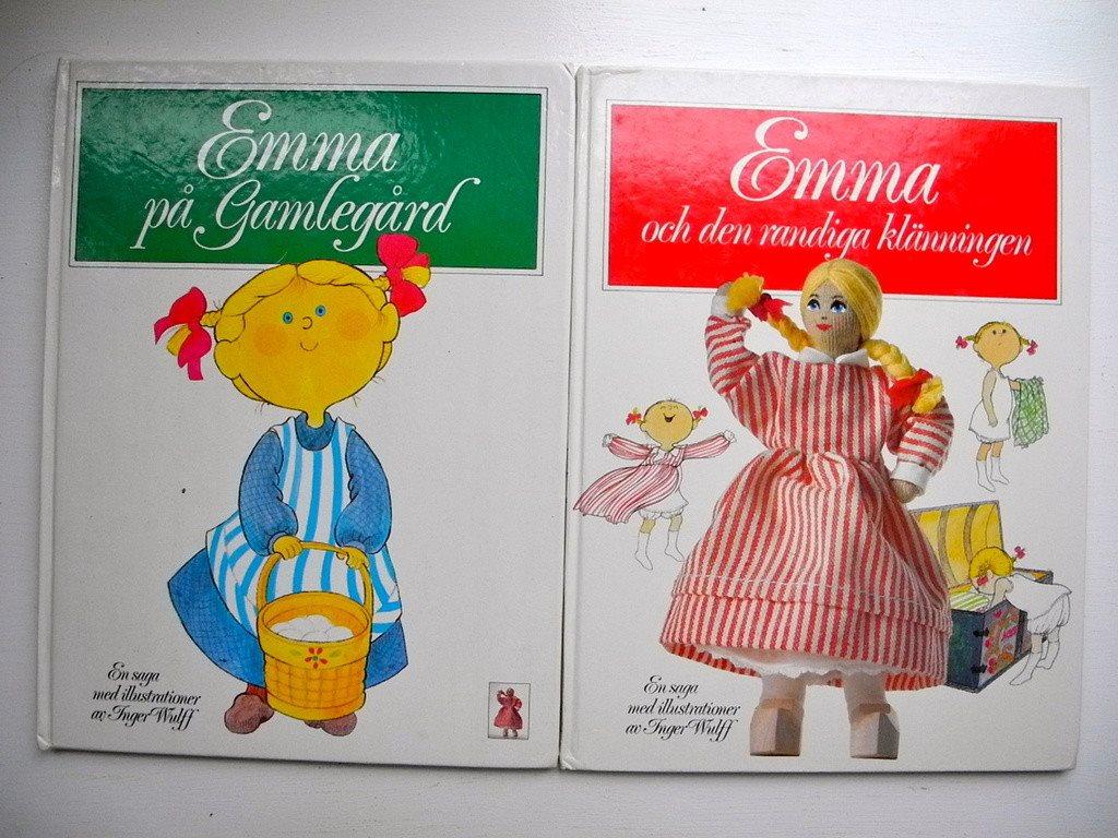 EMMA PÅ GAMLEGÅRD+EMMA OCH DEN RANDIGA KLÄNNINGEN Inger Wulff FRI