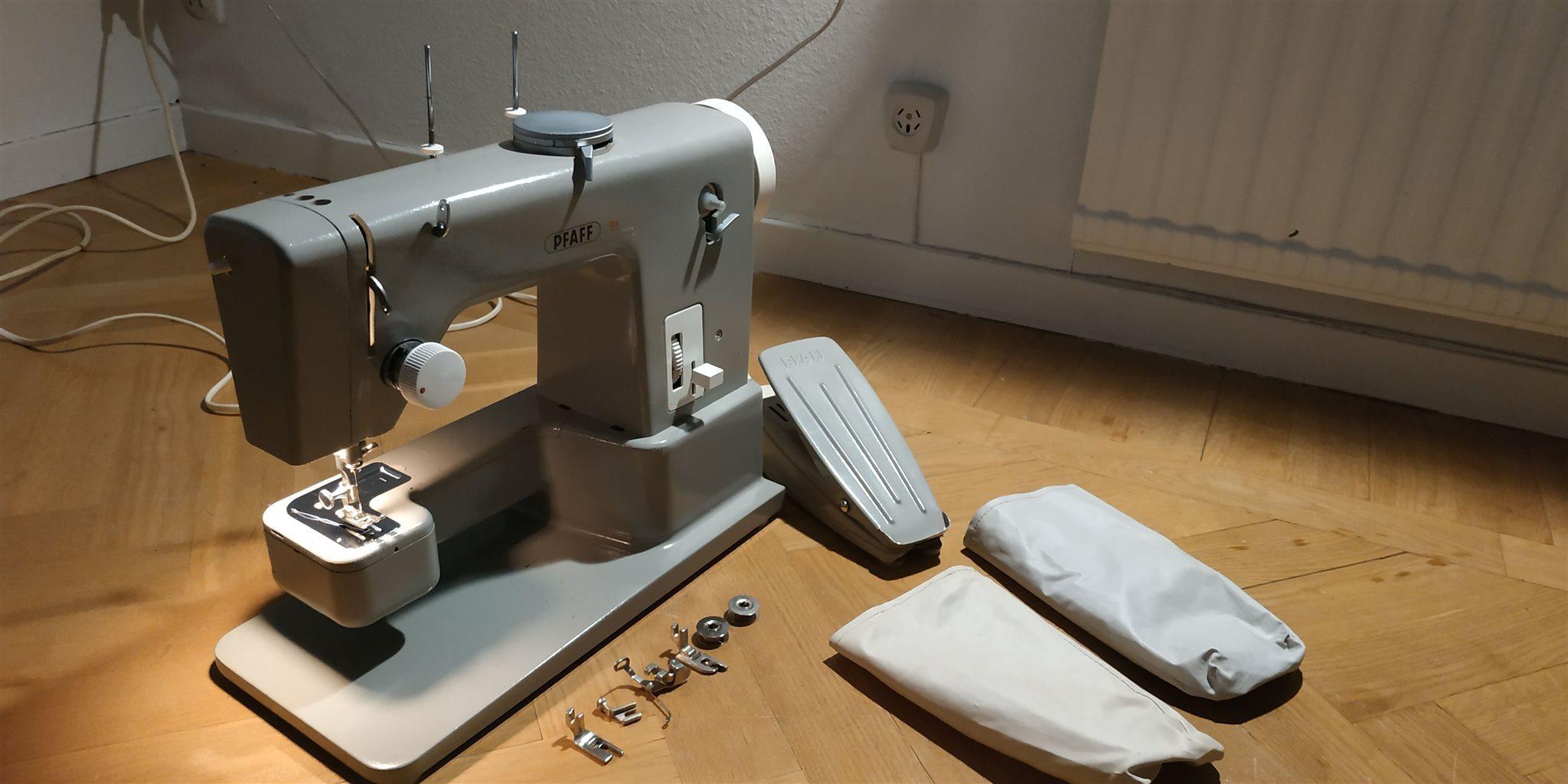 symaskin för läder