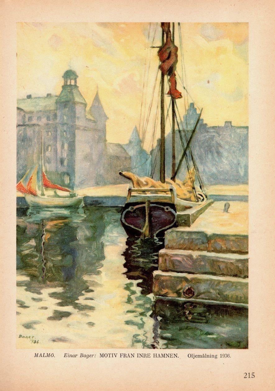 Malmö-målning hämtad ur bok från 1936 (340483164) ᐈ Köp på Tradera 3545781cd1e8b