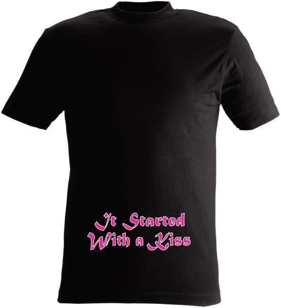 T-SHIRT It started with a kiss nr 12 XX-large Svart