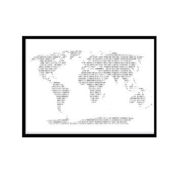 världskarta svart vit