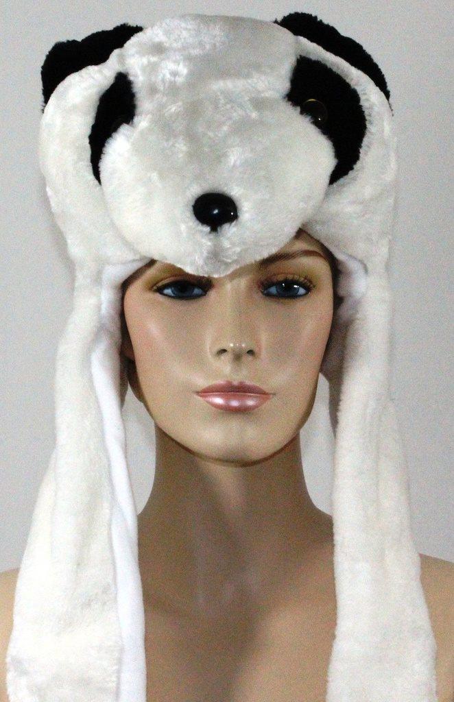 Kids Ladies Long Animal Hats Hood Scarf Fleece Lined Pocket Snood Hat Winter d8c309e1af41