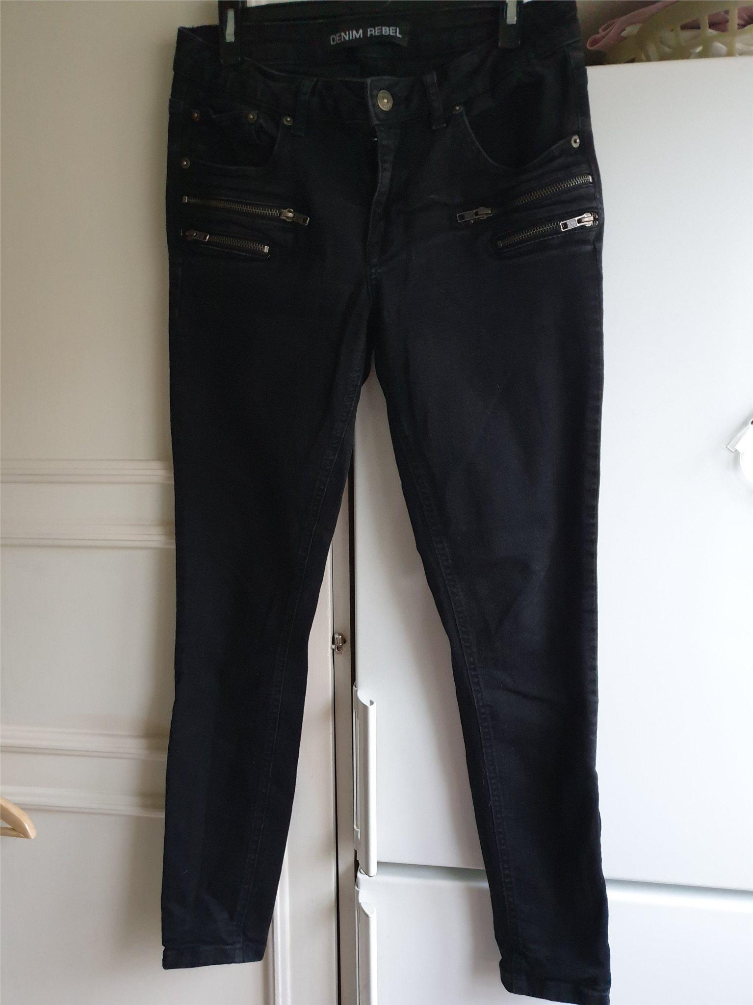 svarta jeans stretch