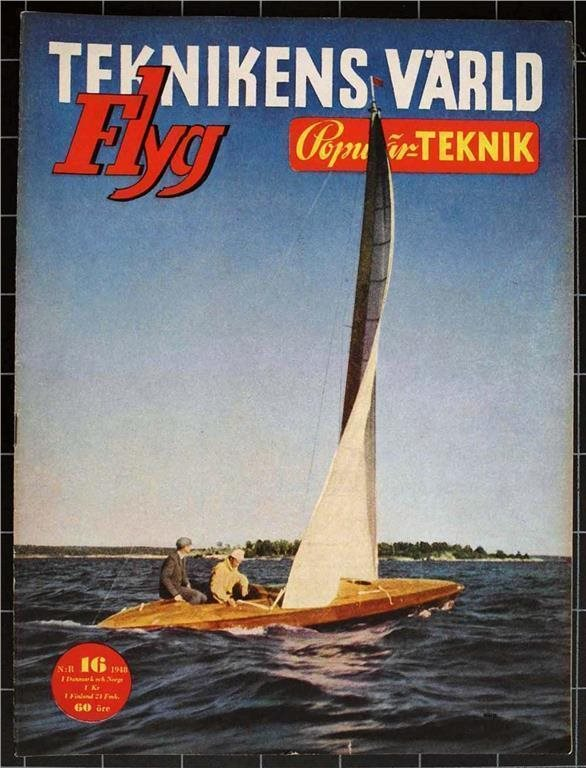 TEKNIKENS VÄRLD 1948/16 JAWA,Torped,Air France,Rälsbuss,Esso,Propeller,MC,B-29