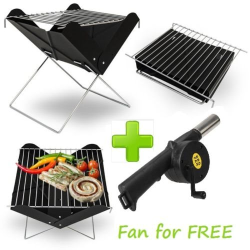 BBQ BARBECUE GRILL FOLDING PORTABLE CHARCOAL GARDEN TRAVEL OUTDO