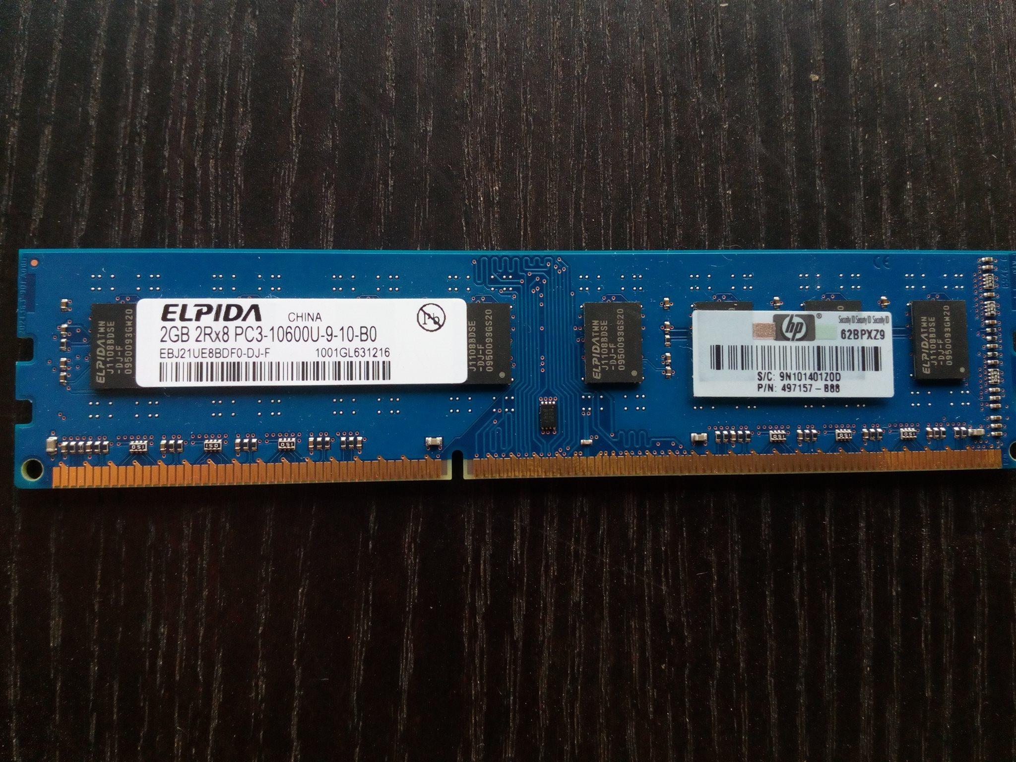 Elpida 2gb 2rx8 Pc3 10600u 9 10 B0 323466714 Kp P Tradera Memory 4gb Ddr3 Pc12800