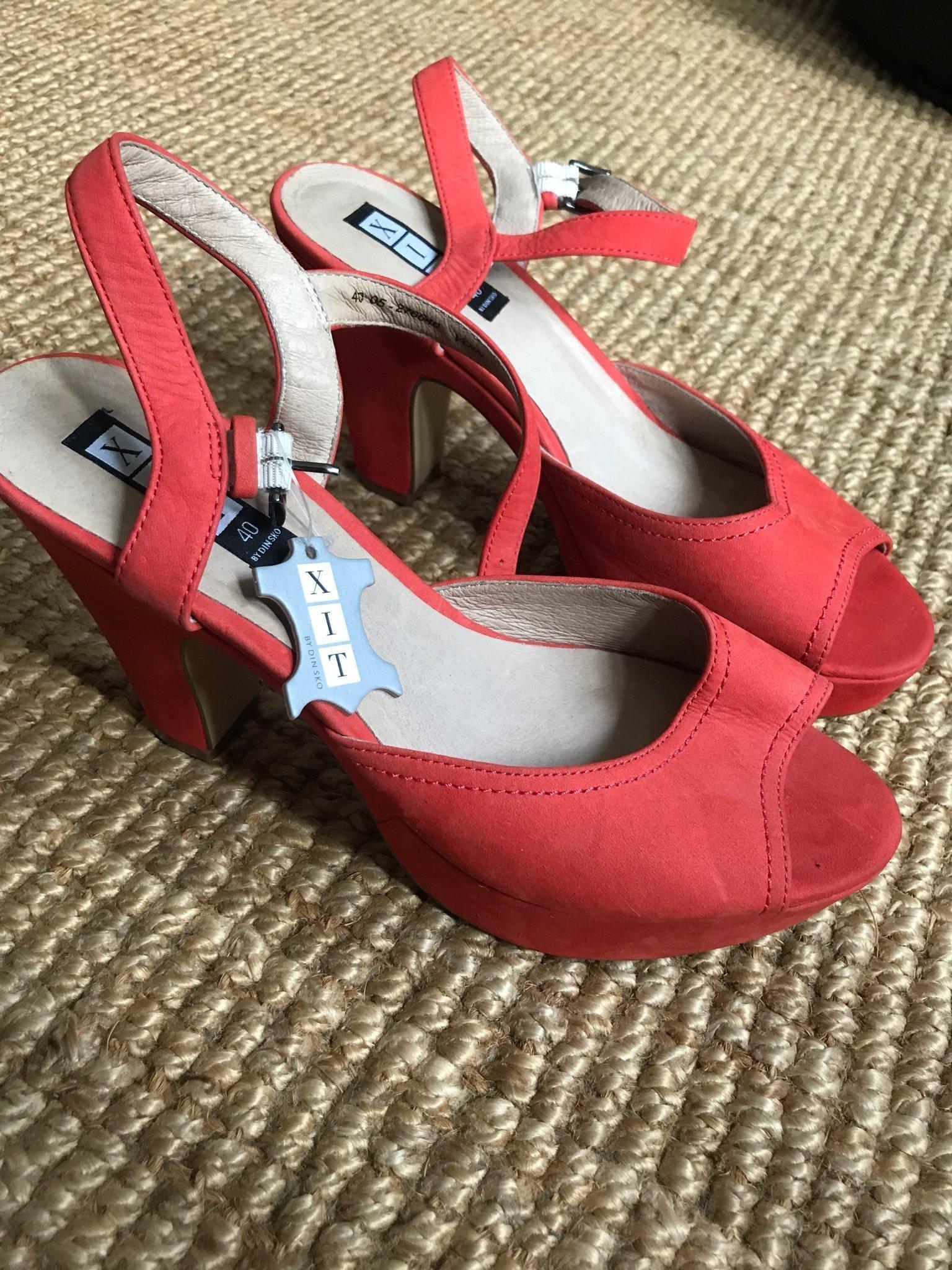 276a1aed4d7 Skor sandal sandalett röda korall röd sommar kl.. (352354874) ᐈ Köp ...