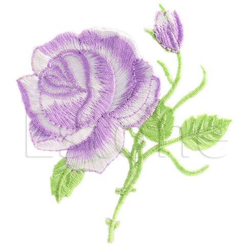 Tygmärke / Patch ros blomma
