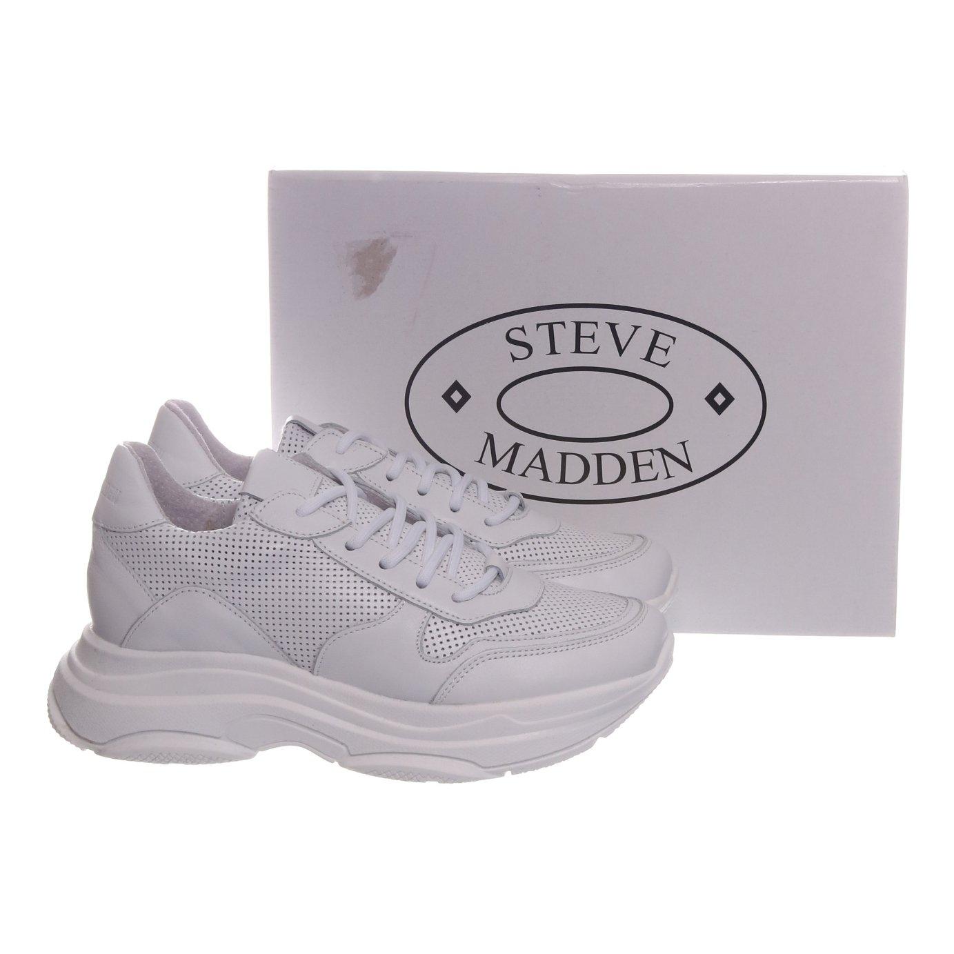 Steve Madden, Sneakers, Strl: 37, Zela P, Skinn, Vit