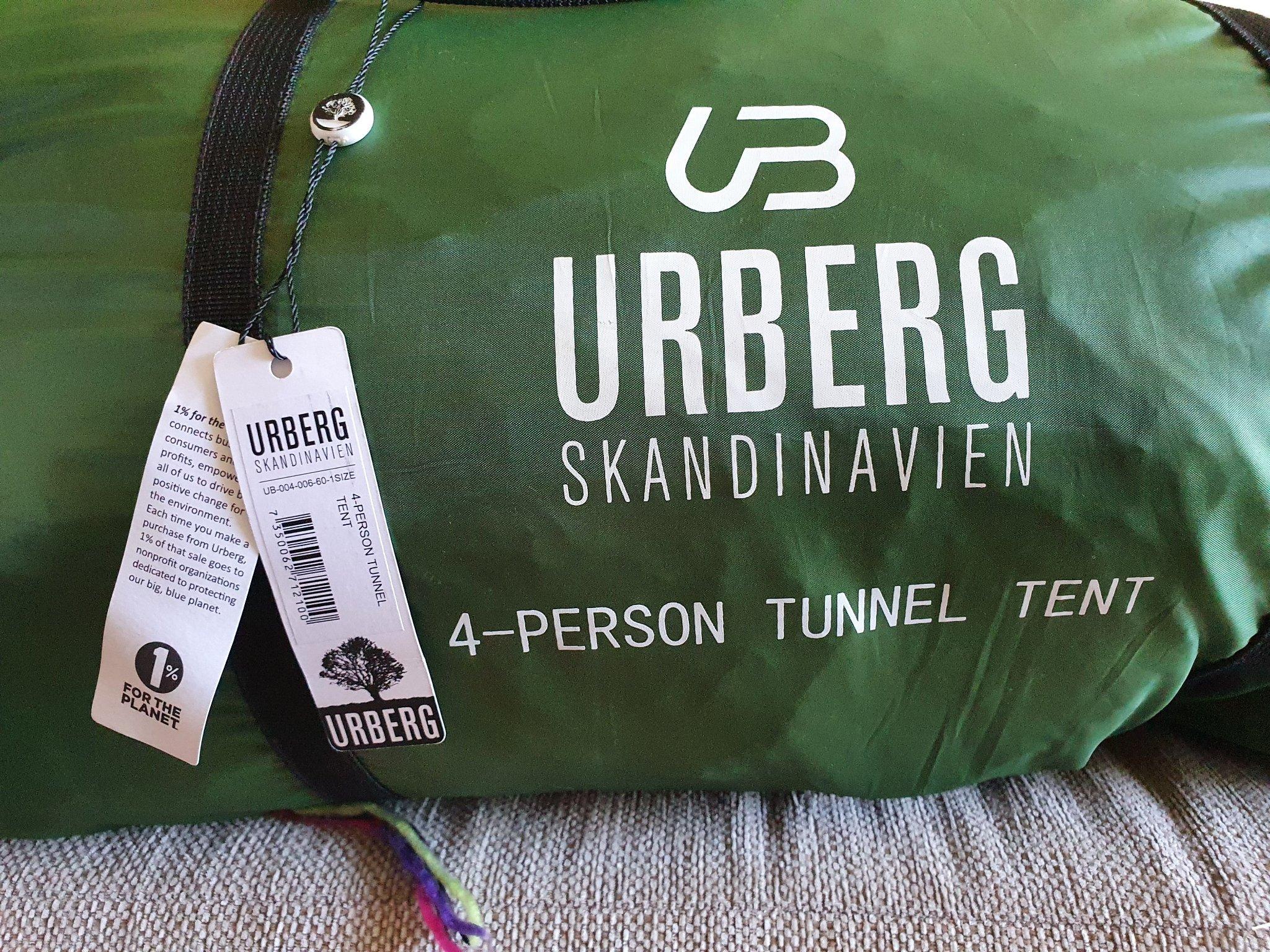 Urberg 4 person tunnel tält NYTT (413130629) ᐈ Köp på Tradera