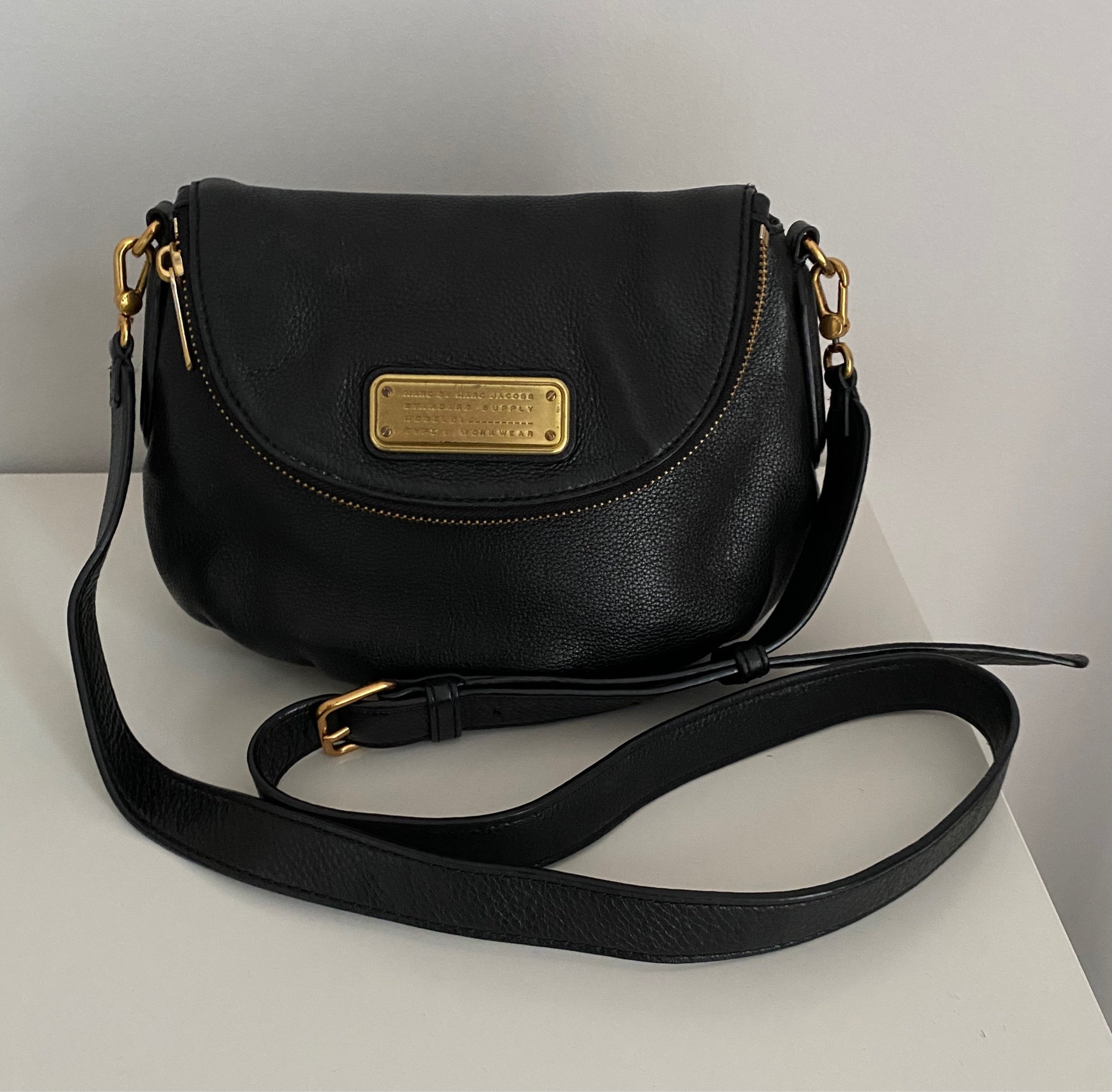 Marc by Marc Jacobs Natasha Leather Crossbody Bag med dustbag