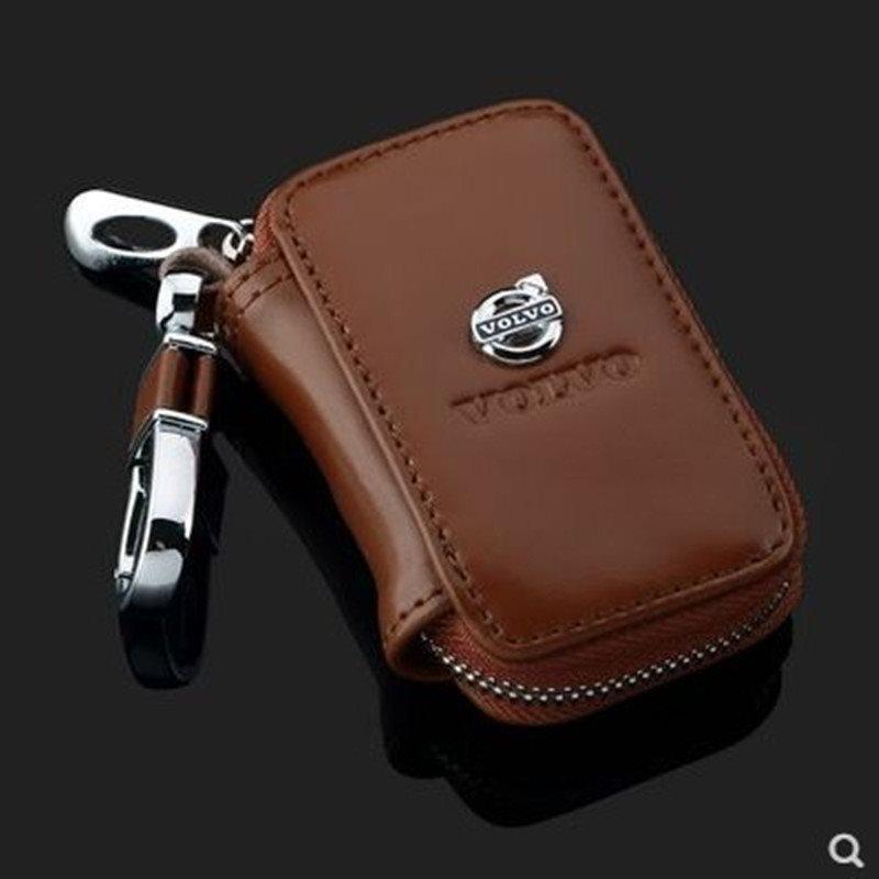 läder Volvo nyckel väska brown bilnyckel Nyckel.. (330346411) ᐈ Köp ... 11f656dc1487f