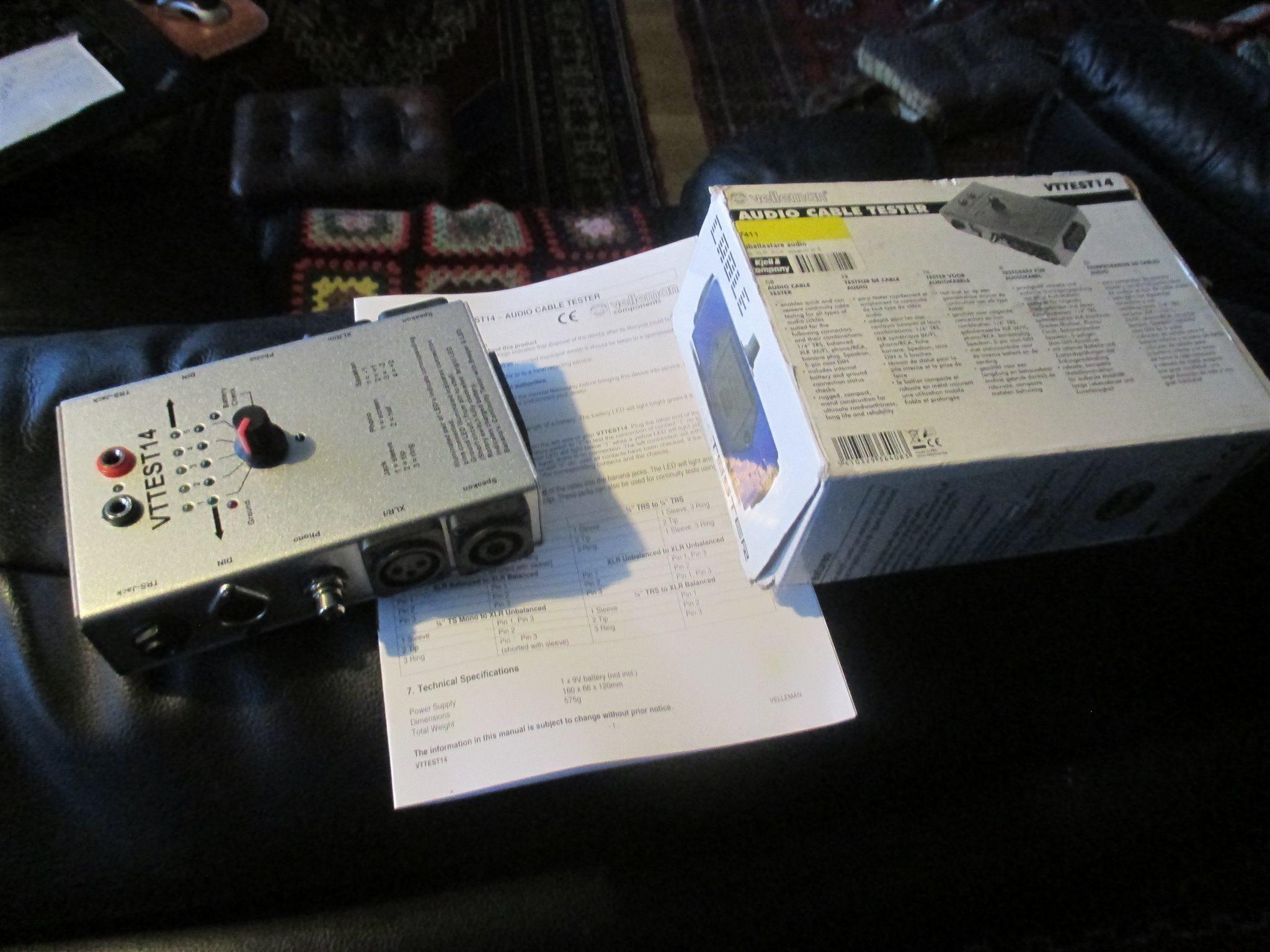 Audio tester Mätinstrument  för mätning av kablar.Dyrt i inköp.Kolla bilderna.