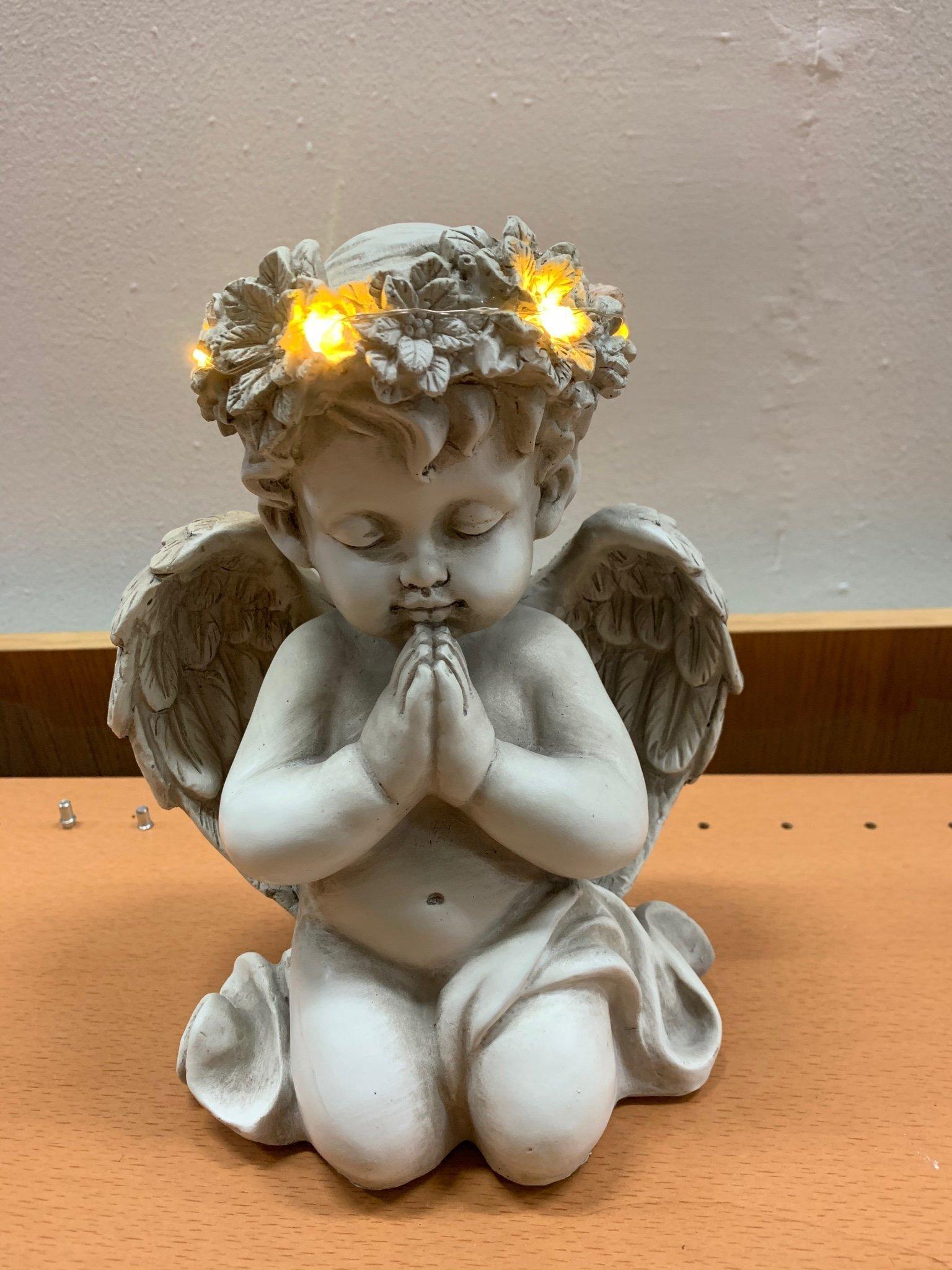ängel med belysning