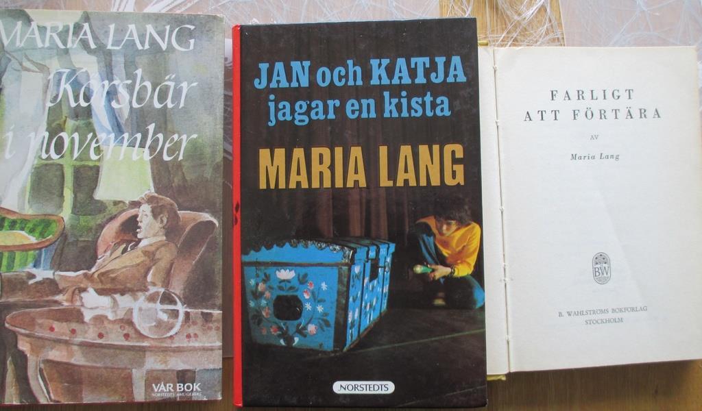 maria lang böcker