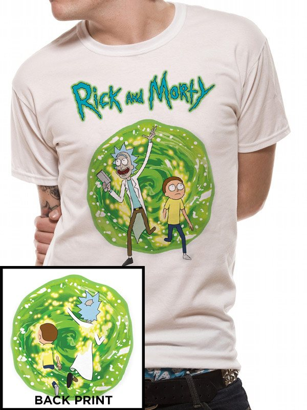RICK AND MORTY - PORTAL (FRONT AND BACK PRINT) (UNISEX) - Medium